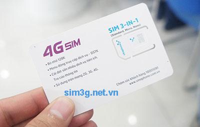 Sim 3G/4G Vinaphone ezCom miễn phí 1 năm, trọn gói không nạp tiền giá rẻ