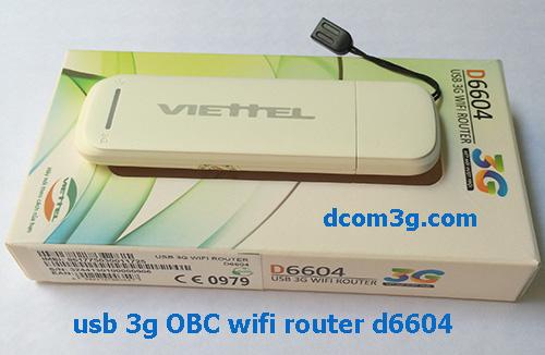 USB 3G Viettel WiFi Router D6604 21,6Mbps phát wifi
